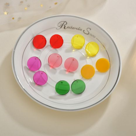 Korean exaggerated fashion acrylic plastic candy color earrings for women NHBQ242106's discount tags