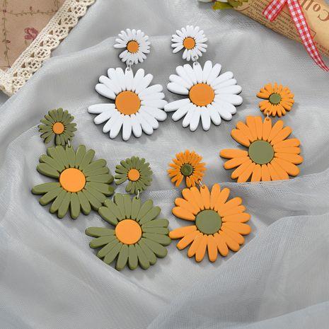 Boucles d'oreilles simples de fleur de marguerite de plaque d'acétate de mode pour les femmes NHBQ242107's discount tags