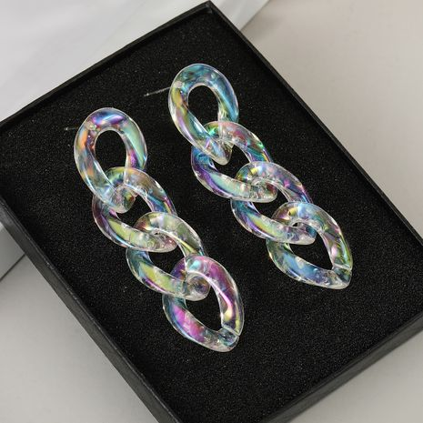 925 silver needle  transparent acrylic chain earrings wholesale nihaojewelry NHGO242117's discount tags