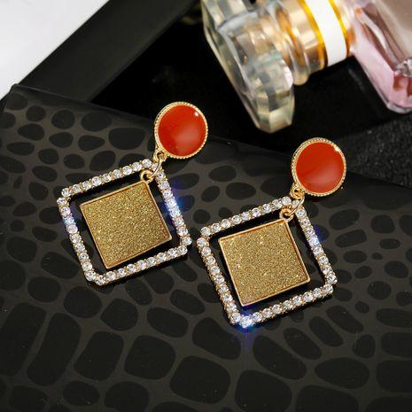 Boucles d'oreilles diamant géométriques aiguille en argent 925 en gros nihaojewelry NHGO242118's discount tags