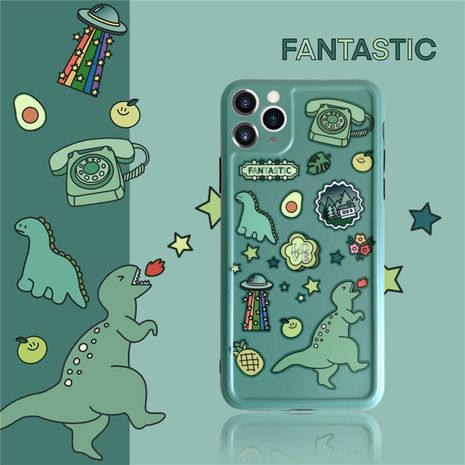 dinosaur stickers mobile phone shell all-inclusive suitable for Iphone XS se2 protective cover wholesale nihaojewelry NHFI242236's discount tags