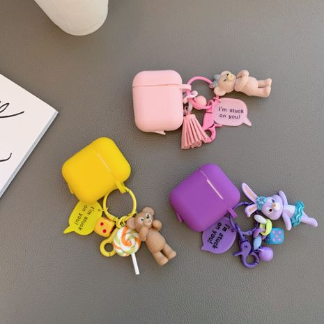 Korean cartoon Dailu rabbit protective cover for Airpods Pro headset wholesale nihaojewelry NHFI242291's discount tags