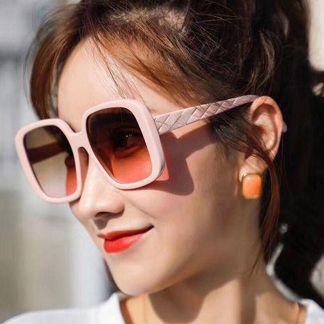 moda marco grande nuevas señoras de moda coreanas cuadradas gafas de sol lisas NHKD242168's discount tags