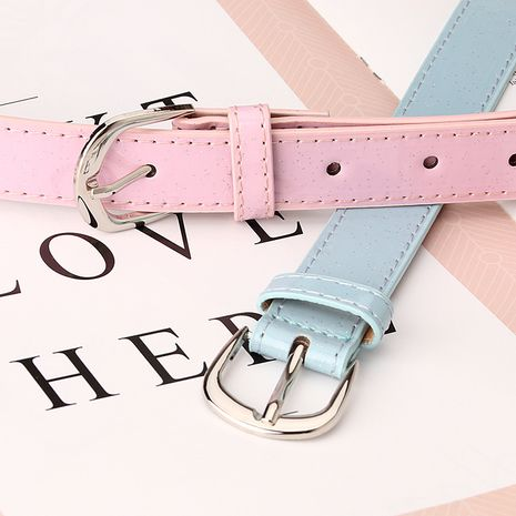 New  sweet patent leather wide belt fashion all-match women's decorative belt wholesale nihaojewelry NHJN242338's discount tags