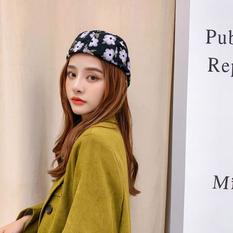 Korean embroidered flowers forward student octagonal hot selling cap Beret for women  NHTQ242417's discount tags