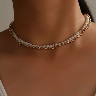 fashion short alloy rice bead clavicle necklace  NHGY242455's discount tags