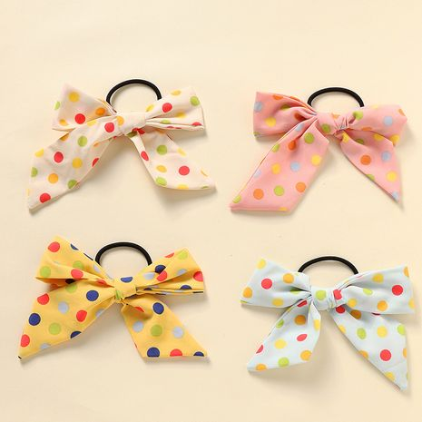 nouvel arc cravate à cheveux vague dot tissu ruban corde à cheveux ensemble NHNU242459's discount tags