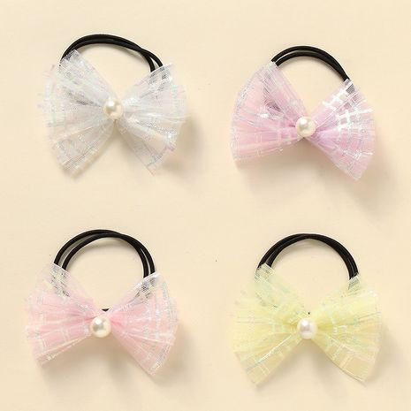 bow knot  rubber band girls tie hair head rope set NHNU242462's discount tags
