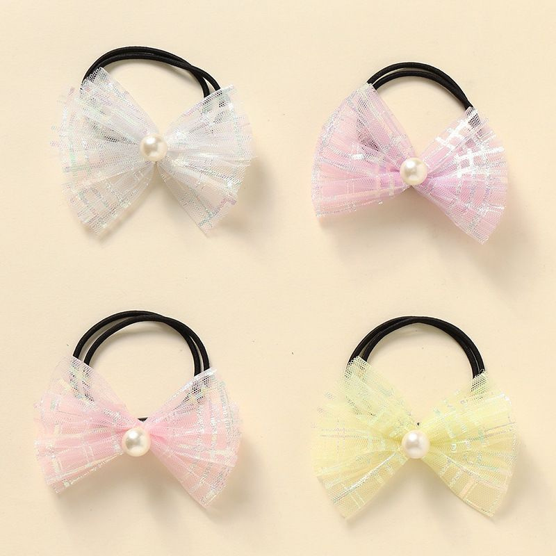 bow knot  rubber band girls tie hair head rope set NHNU242462