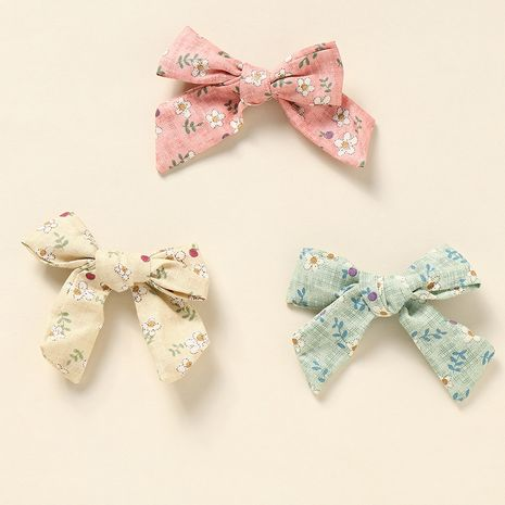 bowknot hair rope super cute girl heart plaid conjunto de anillos de pelo de tela dulce NHNU242464's discount tags
