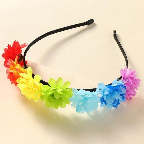 nouveau bandeau de fleur rose en tissu de couronne pour enfants NHNU242466's discount tags