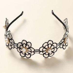 nouveau bandeau de dames de fleur de perle de style simple NHNU242469