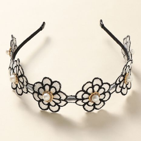 new  simple style pearl flower ladies hairband NHNU242469's discount tags
