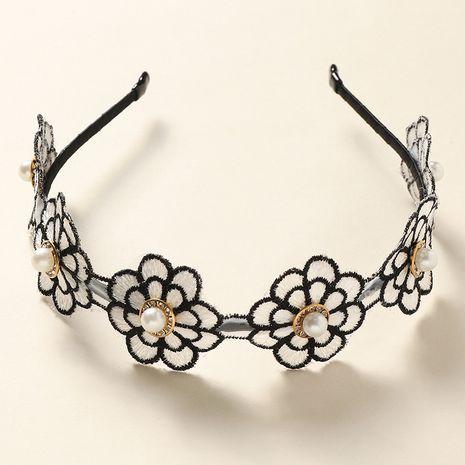 nouveau bandeau de dames de fleur de perle de style simple NHNU242469's discount tags