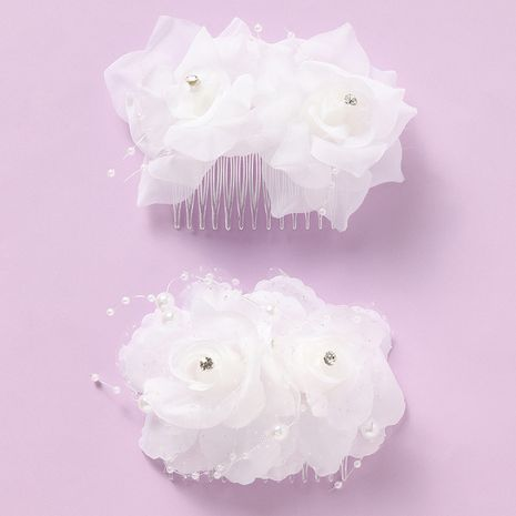 new large flower comb hair comb super fairy children's hair accessories  NHNU242470's discount tags