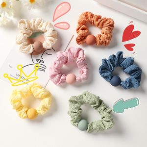 Coréen simple anneau de cheveux de perle d'intestin de porc mignon chouchous de cheveux de couleur NHNU242472