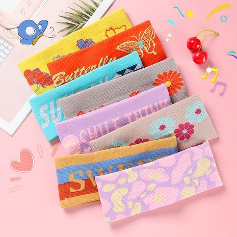 Art de tissu coréen lettre bandeau couleur petits enfants frais coiffe élastique NHNU242473's discount tags