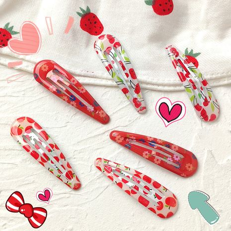 Korean cherry  pink BB clip set wholesale  NHNU242474's discount tags