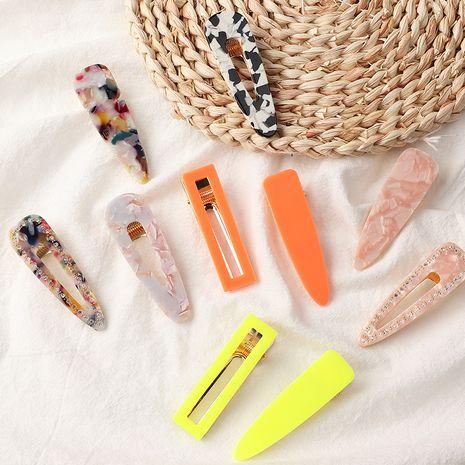 Accessoires de cheveux givrés rétro macaron coréen frange ensemble de clips BB NHNU242479's discount tags
