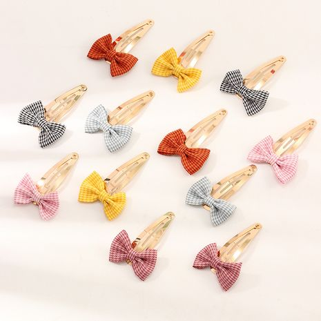 Nuevo Bowknot BB Clip Simple Beautiful Cute Children Hair Clips Set NHNU242482's discount tags
