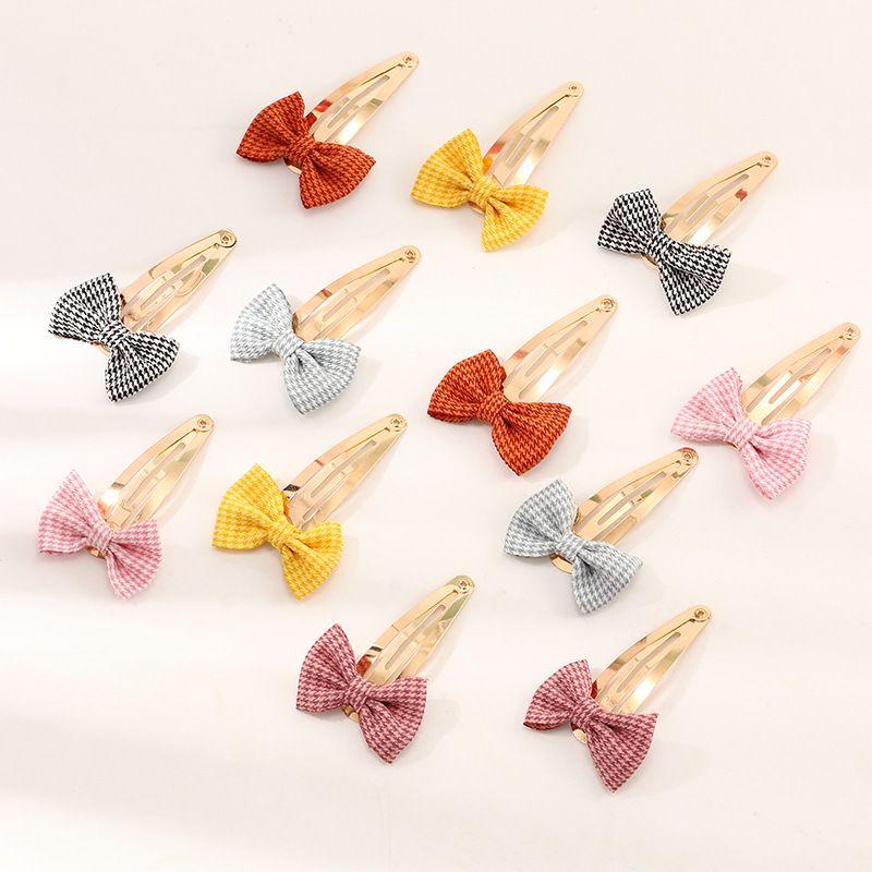 New   Bowknot BB Clip Simple Beautiful Cute Children Hair clips Set  NHNU242482