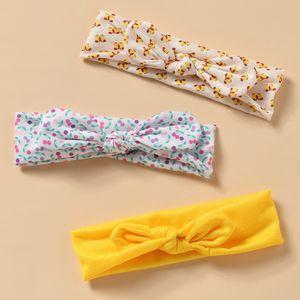 bandeau de cheveux de couleur mélangée de cerise chaude nouveau serre-tête pour enfants en coton oreilles de lapin NHNU242483