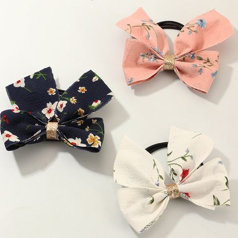 Tissu Bowknot Fresh Pastoral Light Color Flower Style Korean Children Hair Rope set NHNU242488's discount tags
