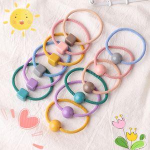 Coréen simple fille couleur bonbon boule ronde corde à tête carrée NHNU242491