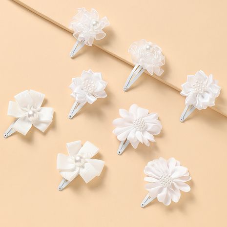 new children's  simple white flowers cute wild princess  hairpin  NHNU242492's discount tags