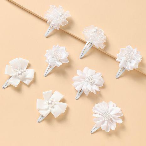 nouvelles fleurs blanches simples pour enfants jolie épingle à cheveux princesse sauvage NHNU242492's discount tags