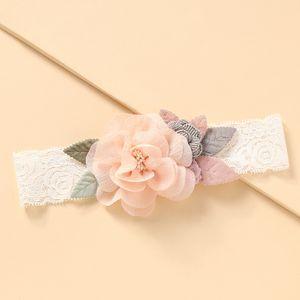 Bande de cheveux coréenne bébé dentelle fleurs en gros NHNU242494