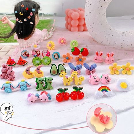 Children's flower headdress Korean girl cute buckle hair clip hair accessories hairpin braided hair clip catch clip wholesale nihaojewelry NHNA220330's discount tags