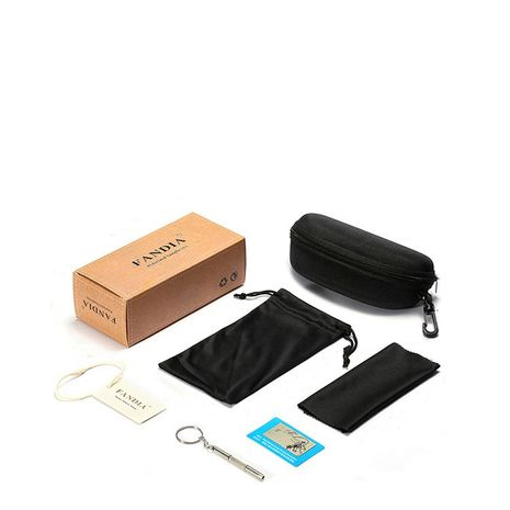 Fashion zipper glasses case glasses cloth printed packaging outer box three sets NHFY242137's discount tags