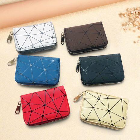 Korean rhombus organ fashion multi-card position business card holder zipper card holder coin purse for women NHBN242506's discount tags