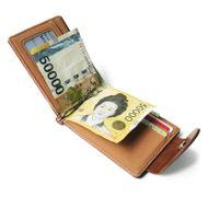 Korean hot-selling buckle dollar bag short new metal clip men's coin purse NHBN242508