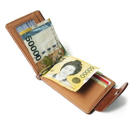Coréen vente chaude boucle dollar sac court portefeuille nouveau clip en métal porte-monnaie pour hommes NHBN242508's discount tags
