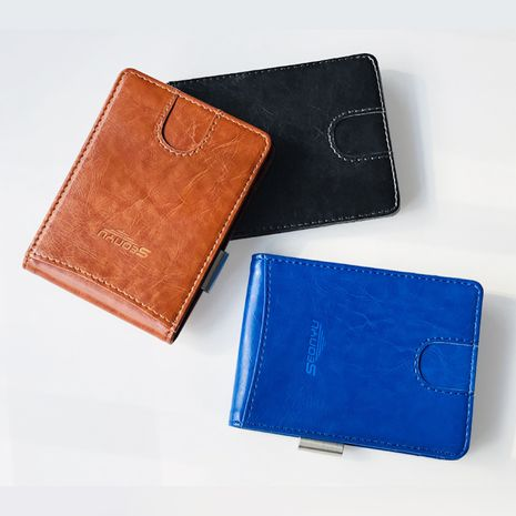 Korean leather short zipper coin purse multi-card men's wallet wholesale NHBN242513's discount tags