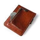 Korean leather short zipper coin purse multicard mens wallet wholesale NHBN242513