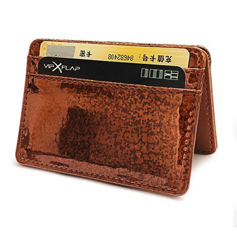 Coréen laser sequin sac magique dames porte-monnaie mini porte-cartes portefeuille en gros NHBN242514's discount tags