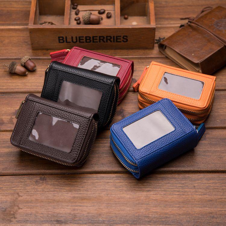 new fashion organ zipper multi-card student small bank card holder wholesale NHBN242516