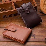 Fashion new casual short Korean men's buckle retro wallet card holder  NHBN242518