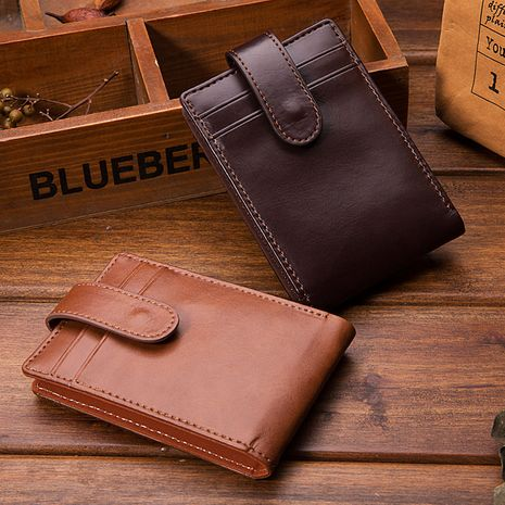 Fashion new casual short Korean men's buckle retro wallet card holder  NHBN242518's discount tags