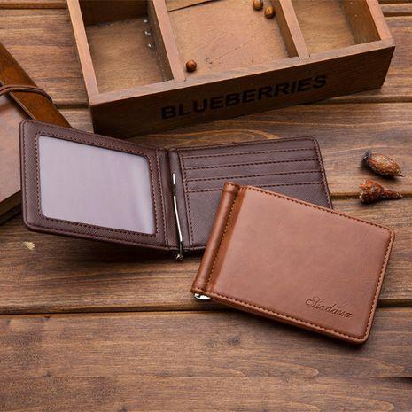 Venta al por mayor de la cartera de los hombres del paquete de certificado de múltiples tarjetas coreanas del nuevo cuero coreano NHBN242525's discount tags
