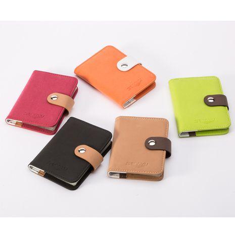 Boucle coréenne givrée dames 19 chiffres banque mode porte-cartes vertical porte-cartes de stockage NHBN242528's discount tags