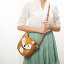 Korean new leather cute fox shoulder messenger trend wild womens bag  NHBN242529