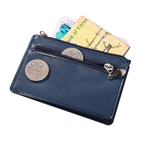 Korean mini ultra-thin fashion hand zipper leather solid color short men's wallet  NHBN242533's discount tags