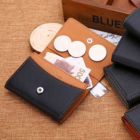 Korean buckle multifunctional thin mini wallet student coin purse card bag  NHBN242534's discount tags