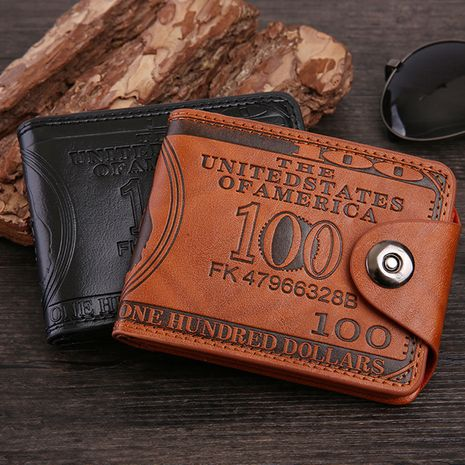 new pressure change short retro magnetic buckle dollar pattern men's wallet wholesale NHBN242535's discount tags