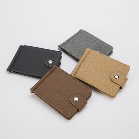 hot sale new short with iron edge Korean trend men's horizontal wallet card package wholesale NHBN242536's discount tags