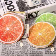 Korean fresh and cute fruit girls zipper round wallet coin bag coin purse NHBN242541